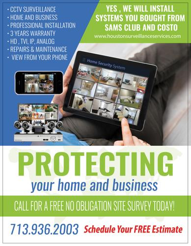 Sell and Install Security Cameras in Houston