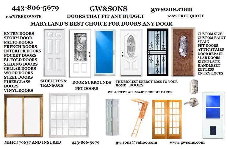 GW&SONS DOOR REPLACEMENT & REPAIR
