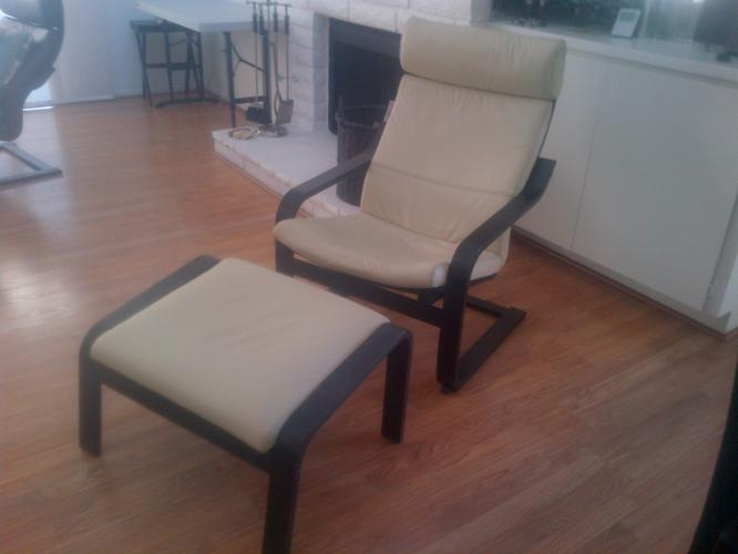 IKEA POANG ARMCHAIR&FOOTREST - TWO SETS!