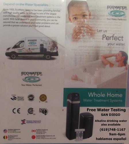 Free Water Testing/Prueba de agua gratis