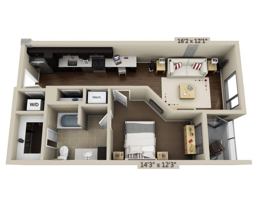$3605 One bedroom Apartment for rent