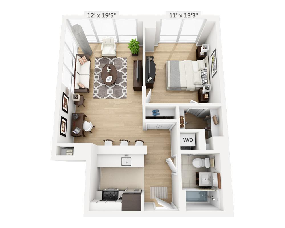 $3685 One bedroom Apartment for rent