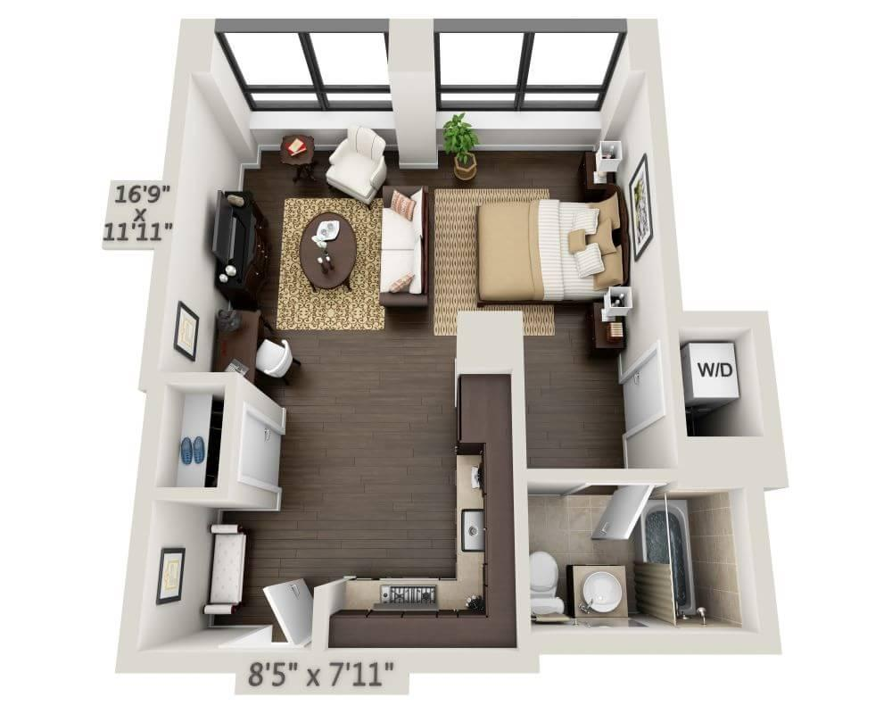 $3308 Studio Apartment for rent