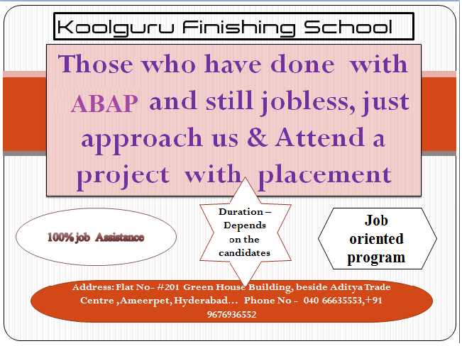 SAP ABAP Training with internship and 100% placement support || Koolguru Finishing School