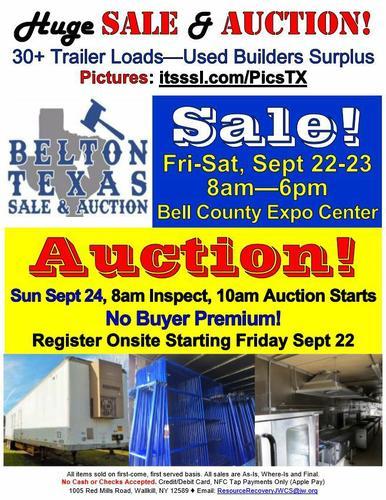 HUGE SALE & AUCTION in Belton, TX!