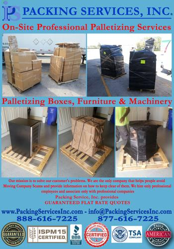 Los Angeles, CA - On-Site Palletizing, Shrink Wrapping & Shipping Company - Packing Services, Inc