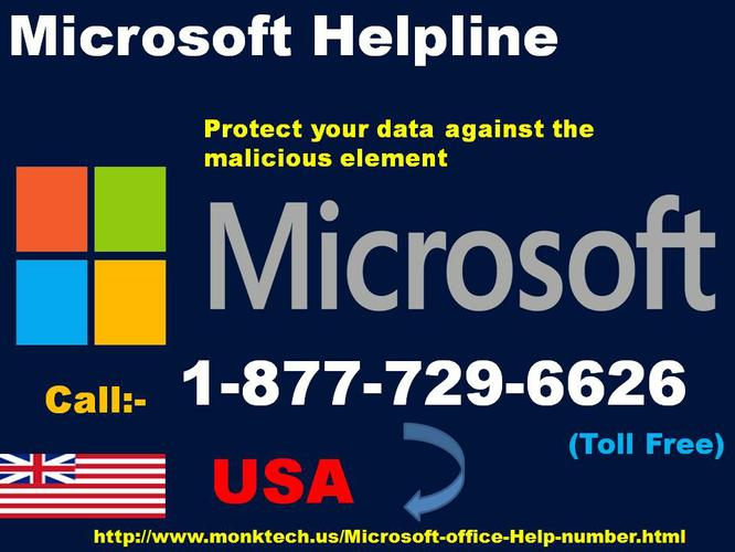 Microsoft Helpline Number 1-877-729-6626 for Resolve Issues Quickly