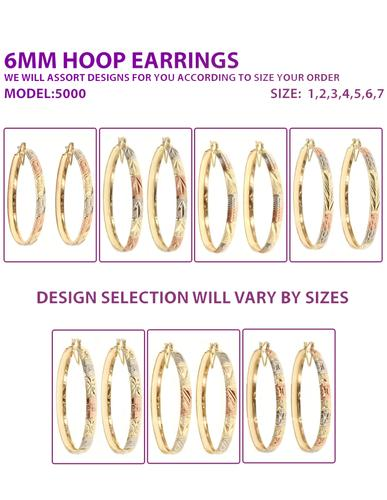 Buy Wholesale Tri Color Hoops