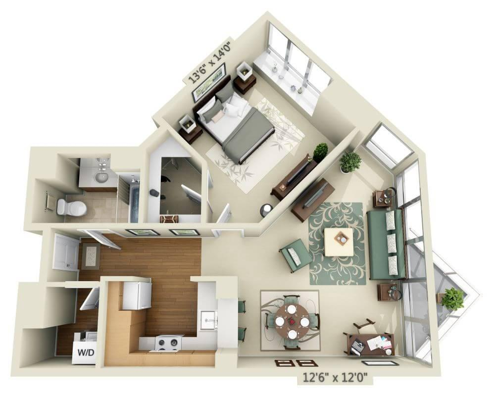 $4223 One bedroom Apartment for rent
