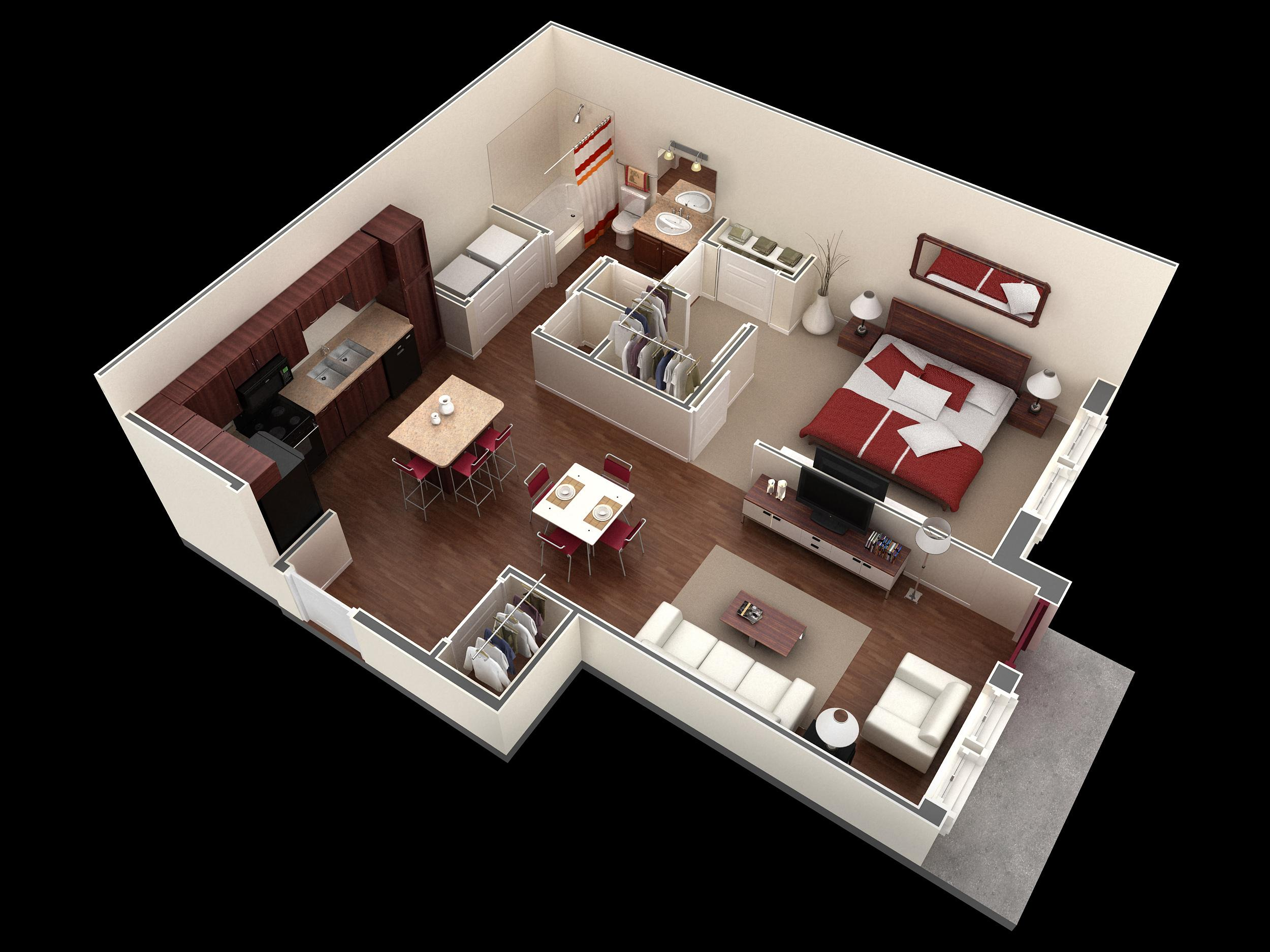 $1001 One bedroom Apartment for rent