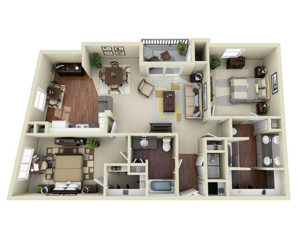 $3453 Two bedroom Apartment for rent