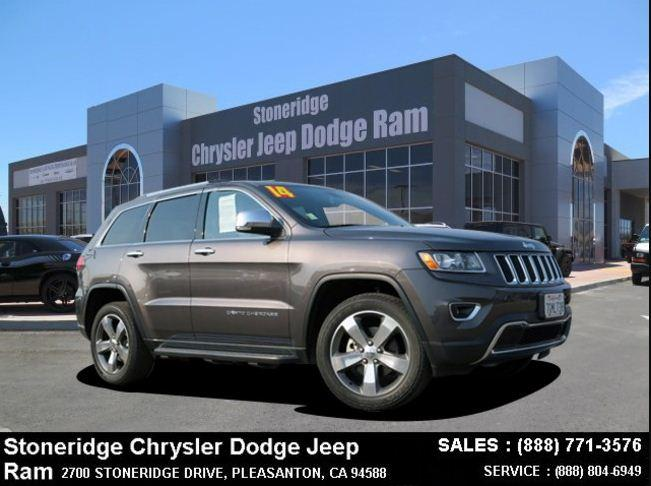 Certified Used 2014 Jeep Grand Cherokee Limited 4x4 SUV For Sale in Dublin CA