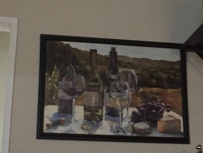 Beautiful large dining room framed art