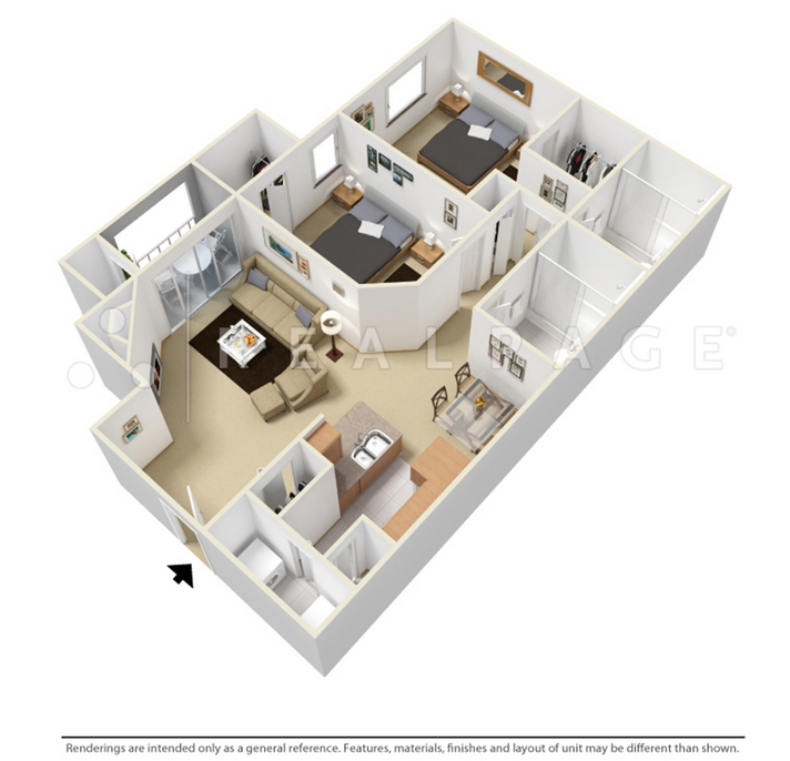 $1083 Two bedroom Apartment for rent