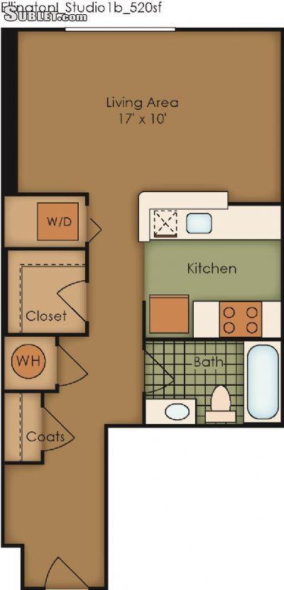 $1512 Studio Apartment for rent