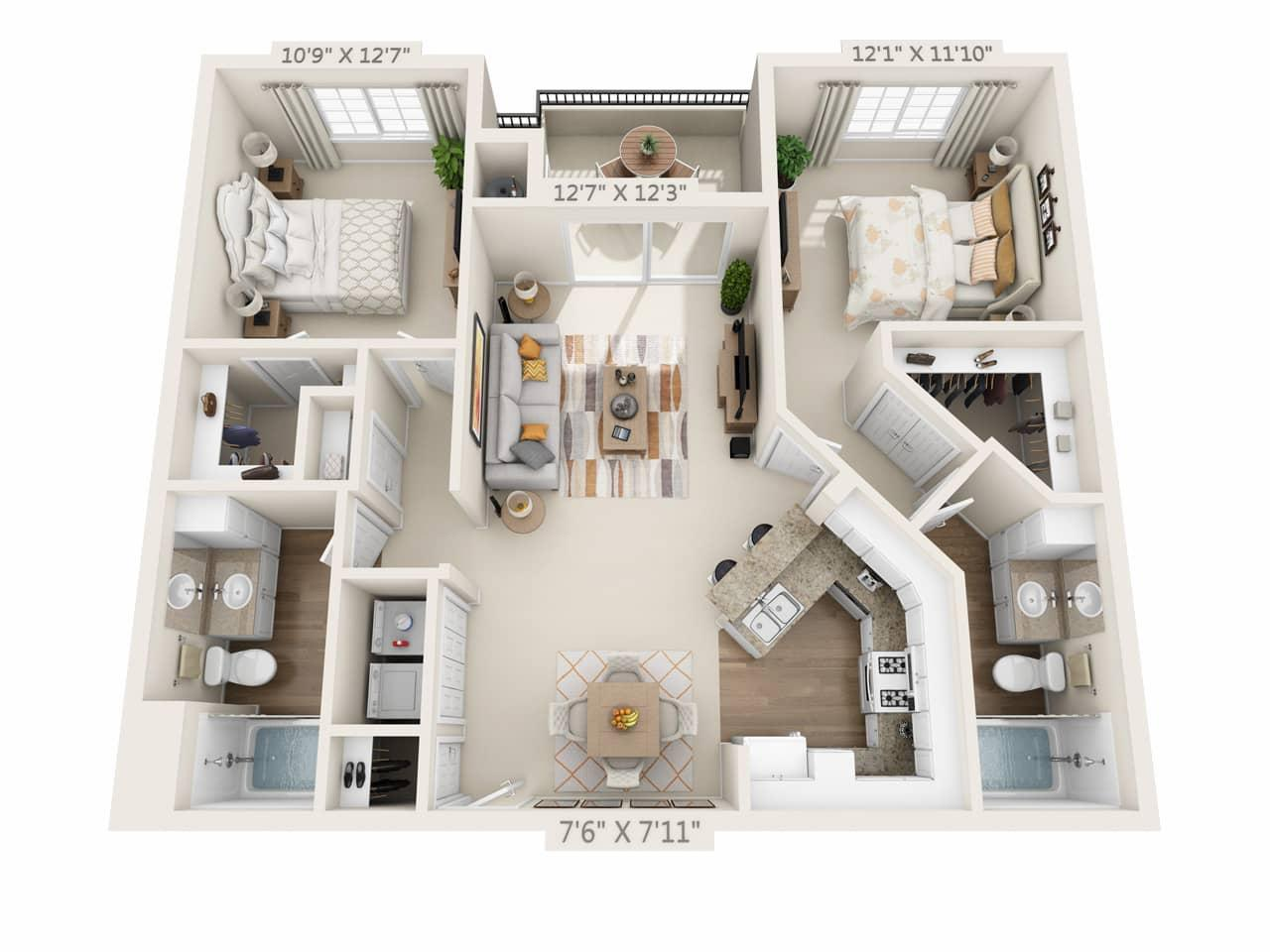 $2765 Two bedroom Apartment for rent