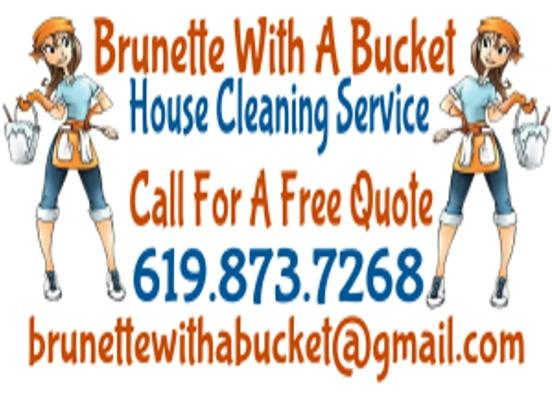 Brunette With A Bucket House Cleaning Service