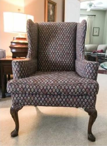 WingBack Chairs, Solid Wood -Just Reduced - $250