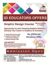 Graphic design & animation course offerd by 3D educators