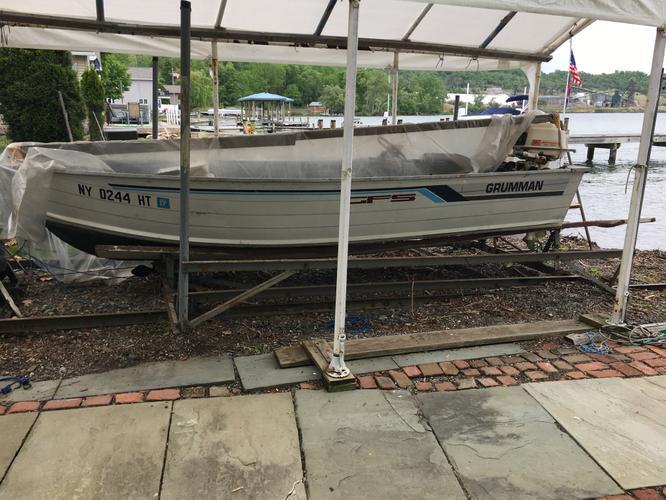 Grumman 14ft Fishing Boat, Motor & Trailer
