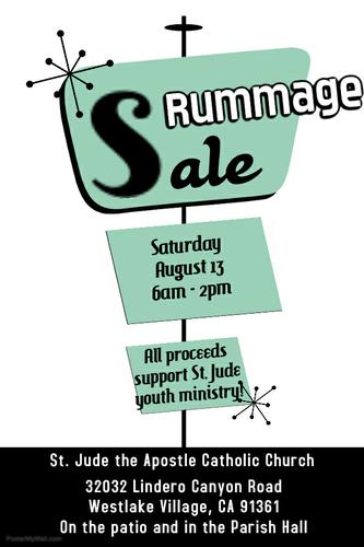 St. Jude Youth Ministry Rummage Sale