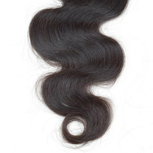 100% unprocessed virgin hair lace closure with middle part