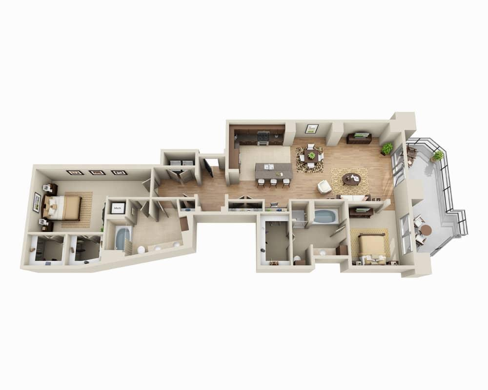 $3322 Two bedroom Apartment for rent