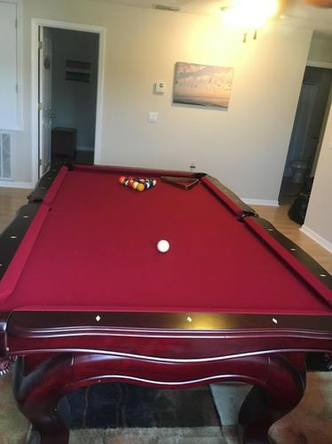 8' Custom Cherry Pool Table-FREE DELIVERY and SET-UP INCLUDED!!!