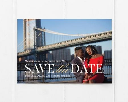 Save the Date Wedding Cards with Photo