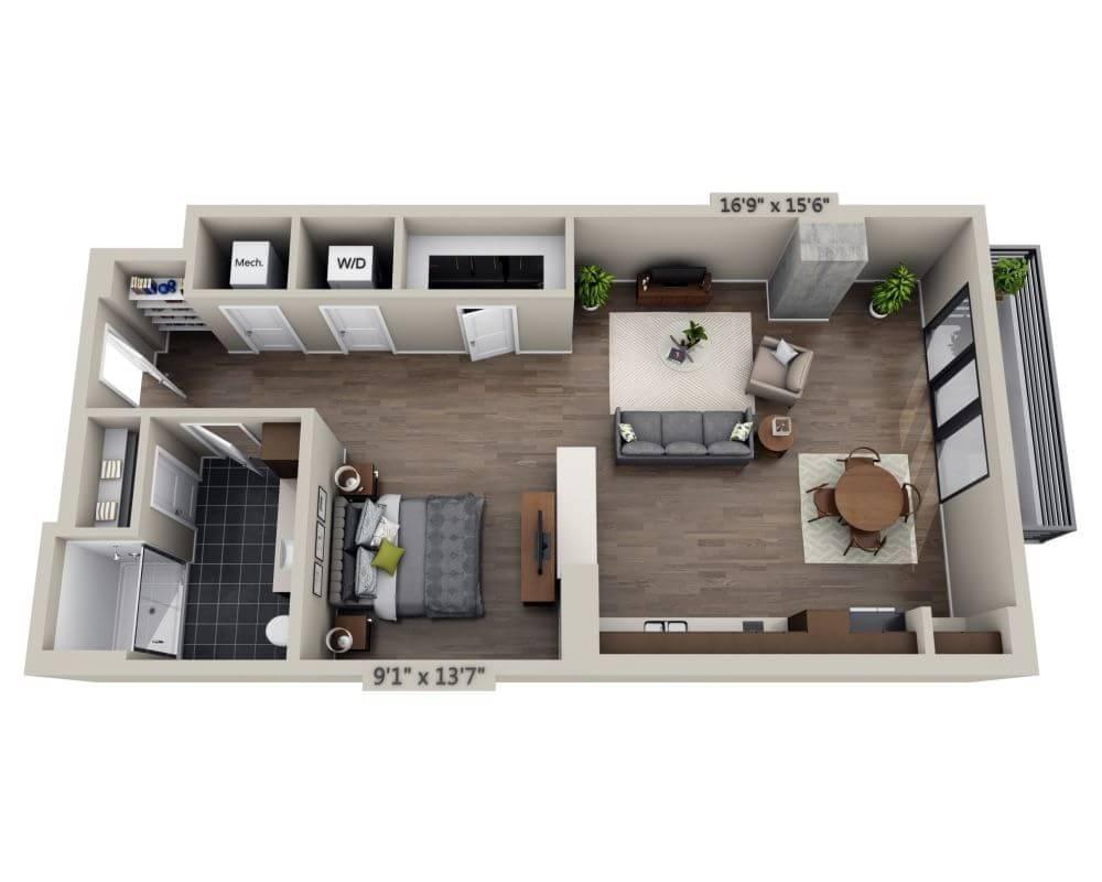 $1900 Studio Apartment for rent