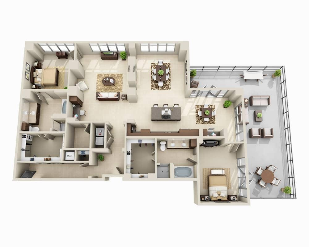 $5384 Two bedroom Apartment for rent