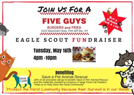 Join Us For A  'Five Guys