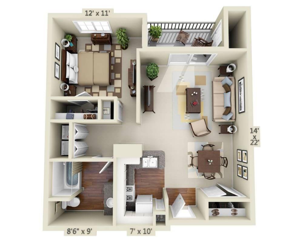 $2843 One bedroom Apartment for rent