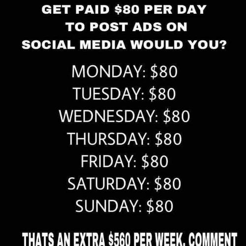 Make up to $200-500  daily