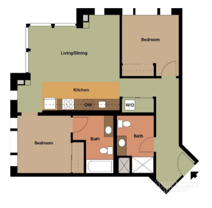 $2099 Two bedroom Apartment for rent