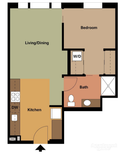 $1331 One bedroom Apartment for rent