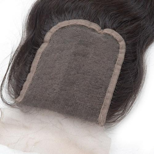 100% unprocessed virgin hair lace closure 3.5by4 with free part