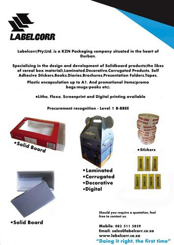 Diagnostic and Printing for Hospitals. Labelcorr (Pty) Ltd