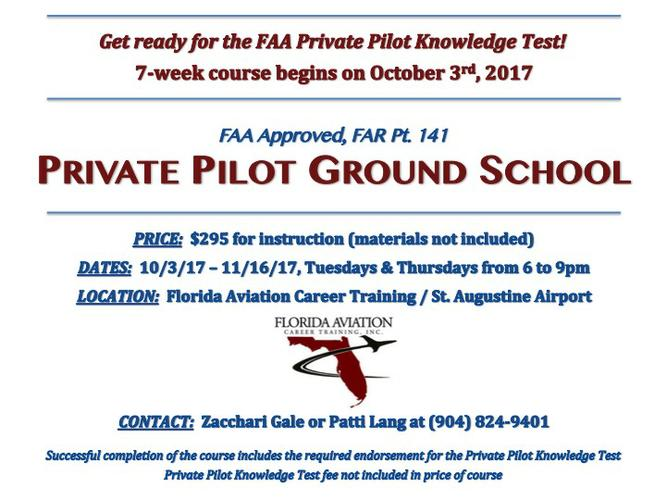 Private Pilot Ground School (Oct 3 - Nov 16)