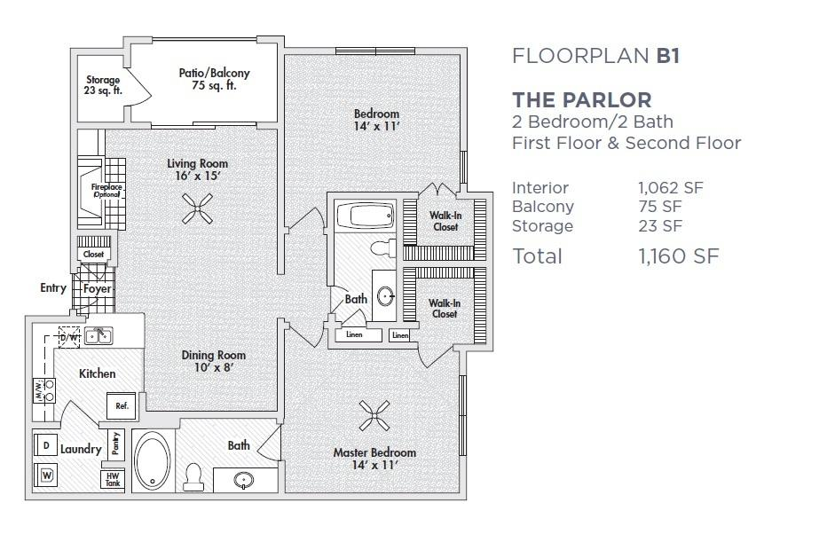 $1307 Two bedroom Apartment for rent