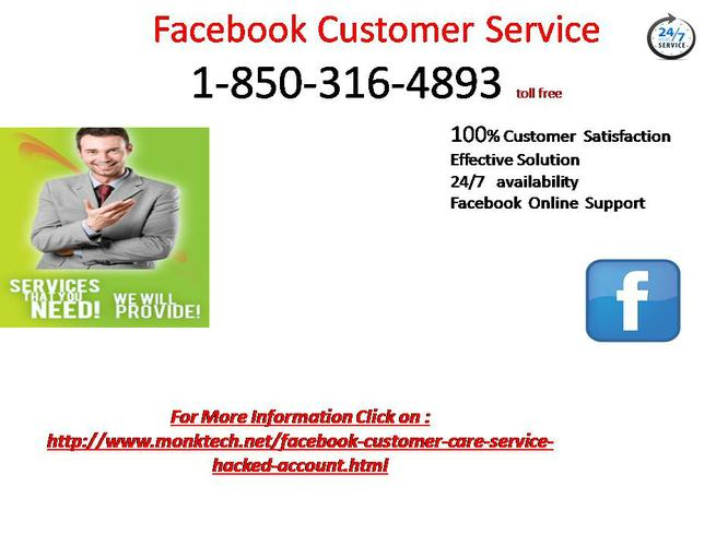 To  Eradicate Your Problems Dial 1-850-316-4893 Facebook Customer Service Number