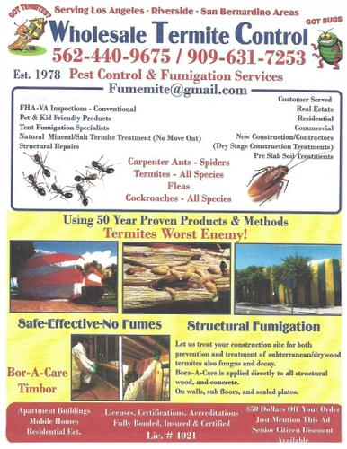 Termites/Bugs Out And Keeping You In