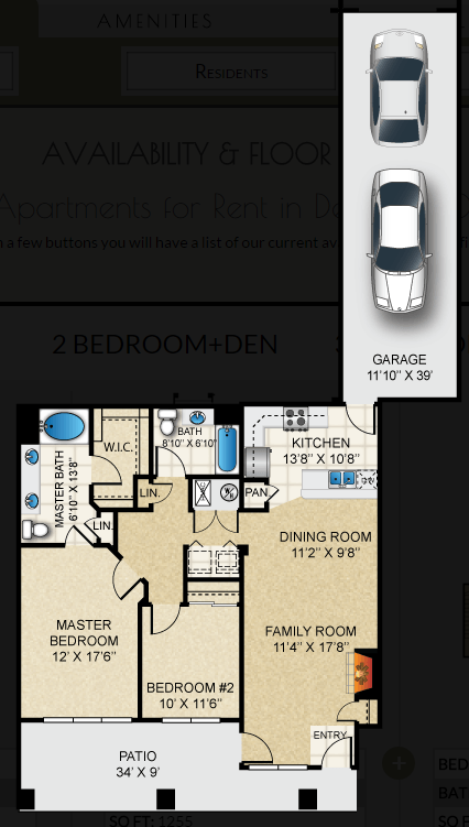 $1748 Two bedroom Apartment for rent