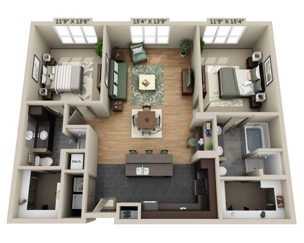 $1613 Two bedroom Apartment for rent