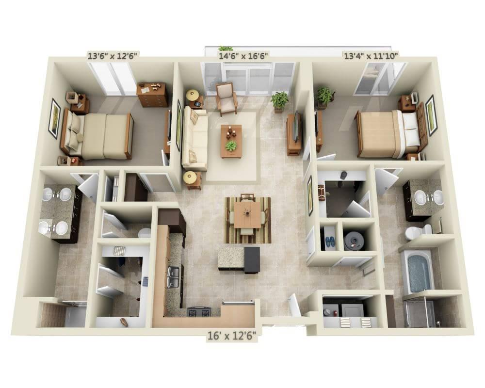 $3204 Two bedroom Apartment for rent