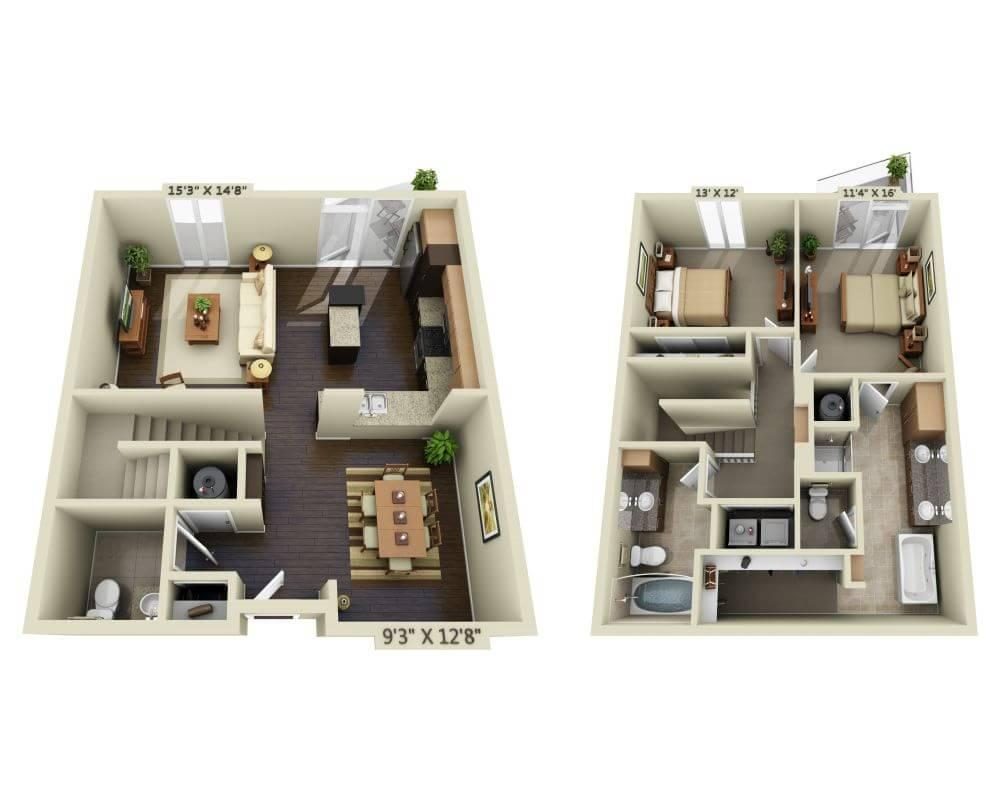 $3221 Two bedroom Apartment for rent