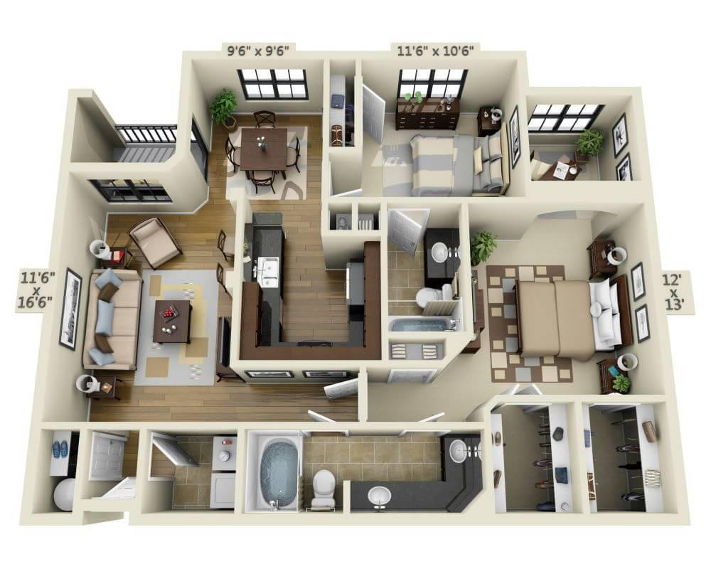 $1892 Two bedroom Apartment for rent