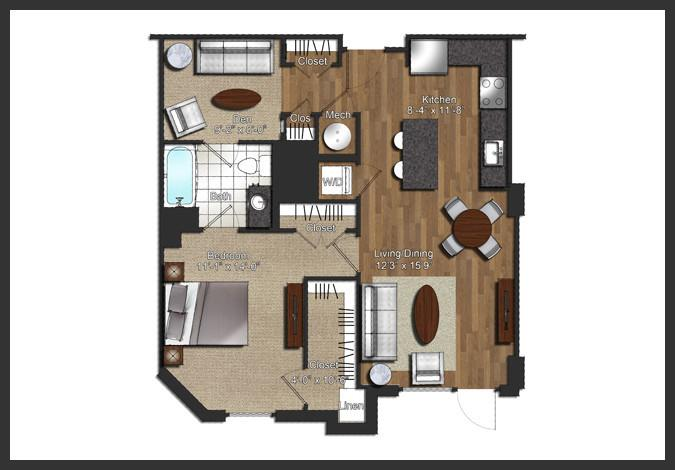 $2110 One bedroom Apartment for rent