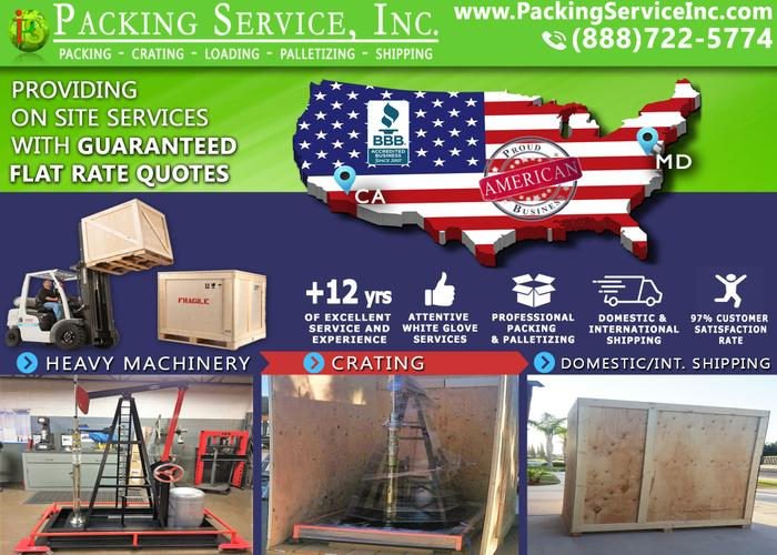Packing Service, Inc. - Palletizing Company, Packing and Palletizing – San Diego, California