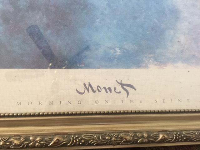 Large Framed Monet Print